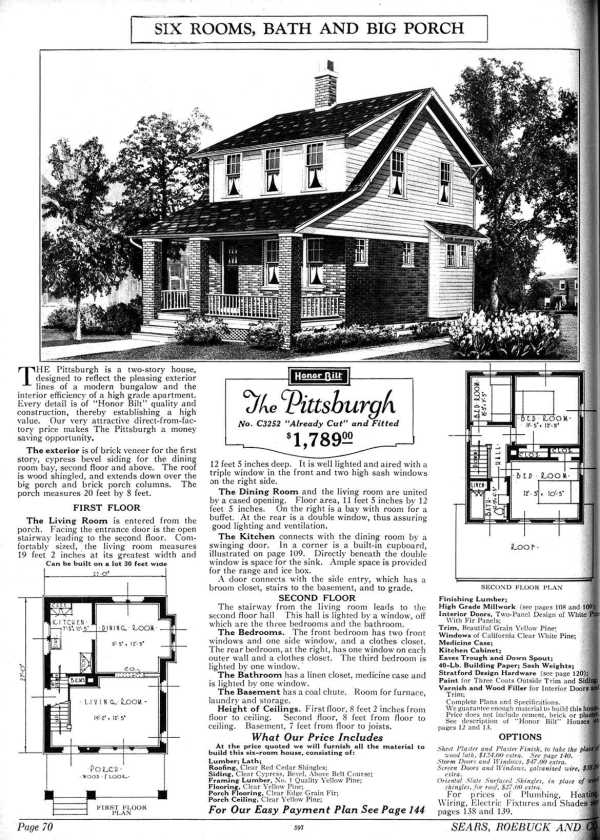 "1926 Craftsman Bungalow ""The Pittsburgh"""